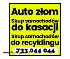 Auto złom Śląsk / Małopolska/ Opolskie ,Skup samochodów do kasacji ,Skup samochodów do recyklingu